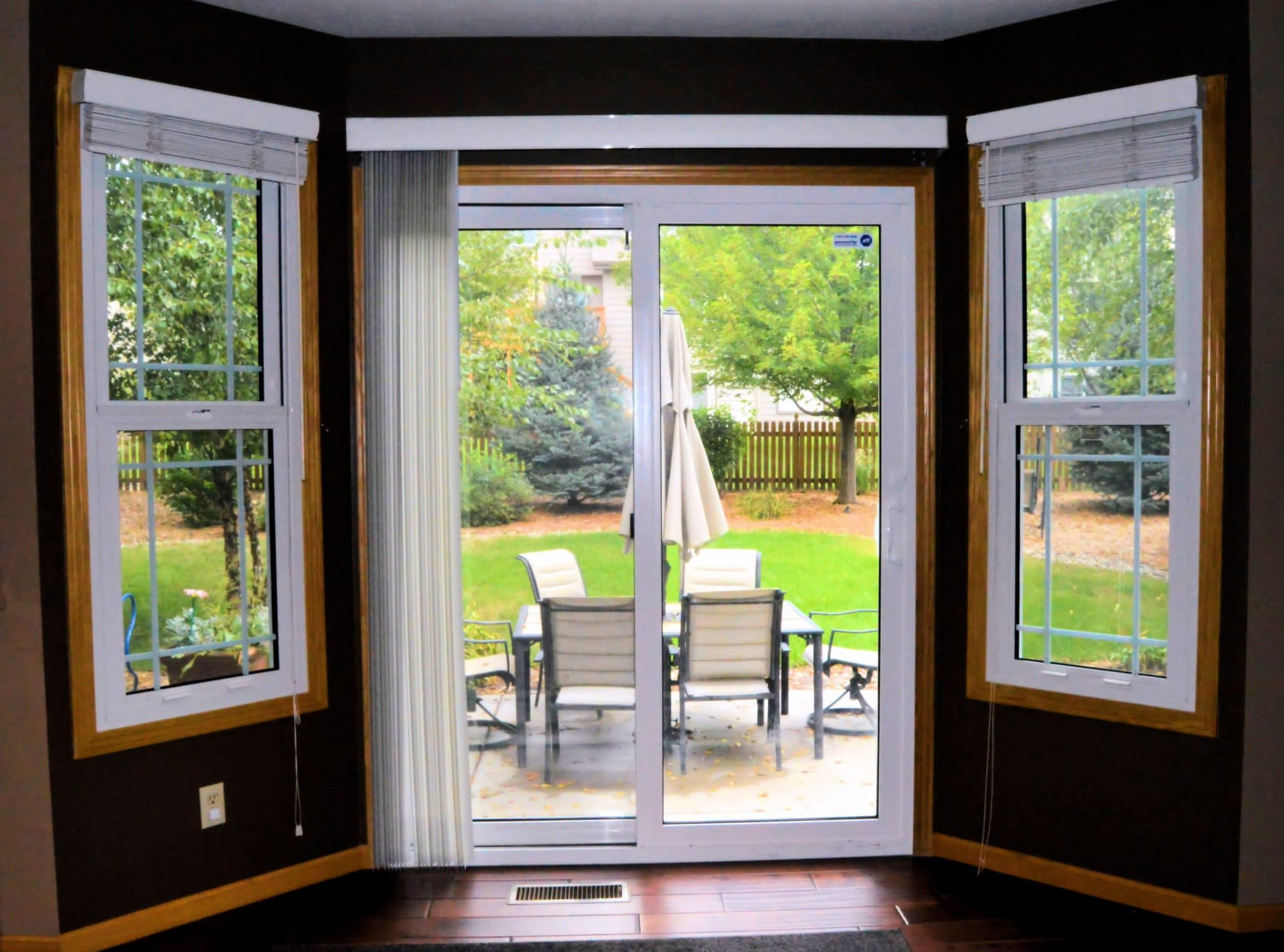 the casing are series with sliding pin door french style replaced custom anderson these we patio doors trim